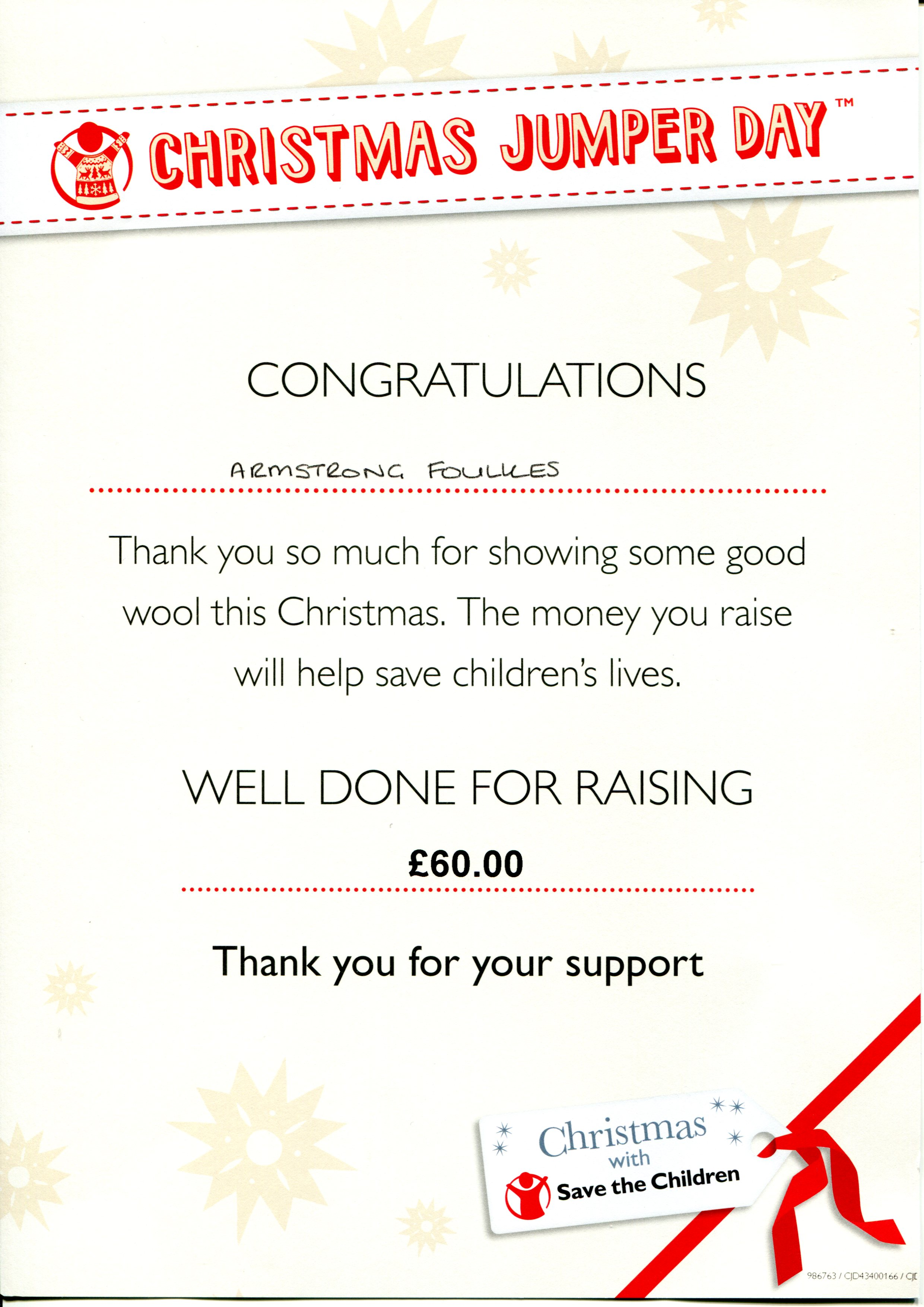 Christmas Jumper Day 2019 Save The Children.Christmas Jumper Day 2013 Update Armstrong Foulkes
